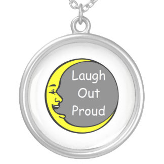 Laugh Out Proud Silver Plated Necklace