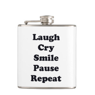 Laugh Repeat Hip Flask
