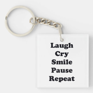 Laugh Repeat Keychain