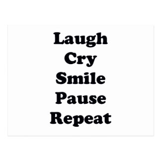 Laugh Repeat Postcard