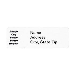 Laugh Repeat Return Address Label