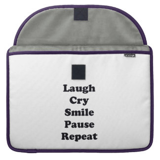 Laugh Repeat Sleeve For MacBook Pro