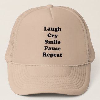 Laugh Repeat Trucker Hat