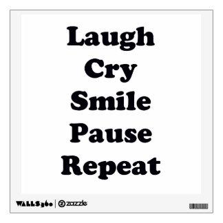 Laugh Repeat Wall Sticker