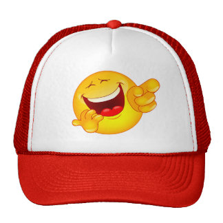 laugh trucker hat
