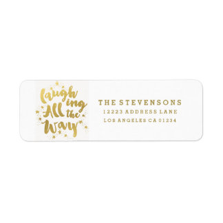 Laughing All the Way Golden Holiday Address Labels