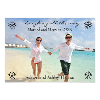 Laughing all the Way Married - Christmas Card