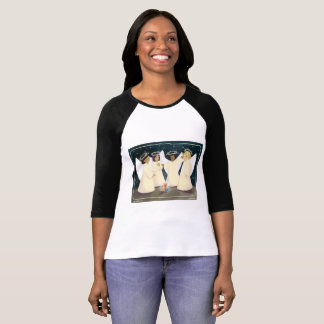 Laughing Angels and Kitty Raglan T-Shirt