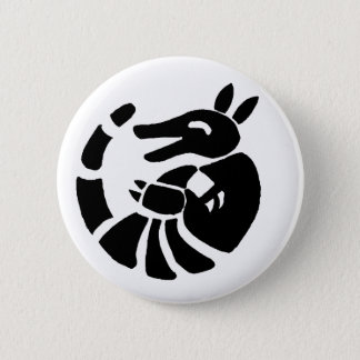 Laughing Armadillo 2 Inch Round Button