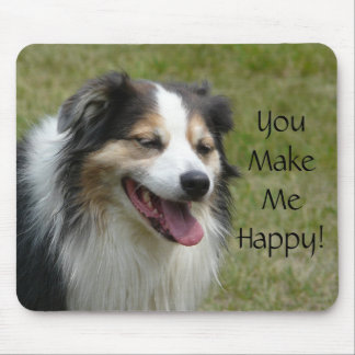 Laughing Aussie  Dog Mouse Pad