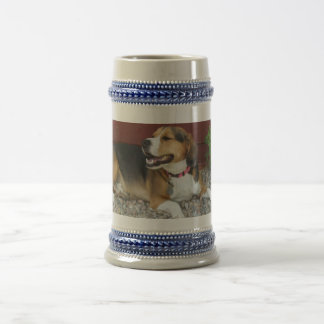 Laughing Beagle Beer Stein Coffee Mug