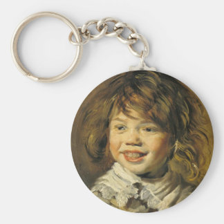 Laughing Boy Basic Round Button Keychain