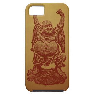 Laughing Buddha (dark red) iPhone 5 Cover