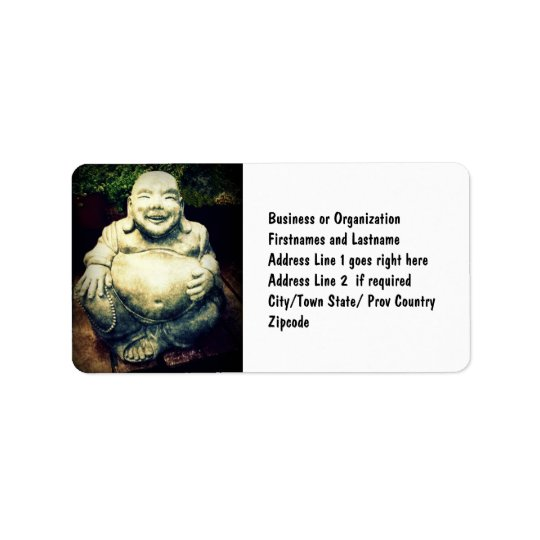 Laughing Buddha Label