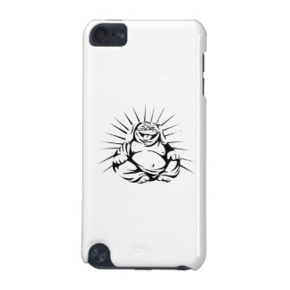 Laughing Bulldog Buddha Sitting Black and White iPod Touch 5G Cases