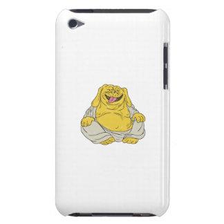 Laughing Bulldog Buddha Sitting Cartoon iPod Touch Cases