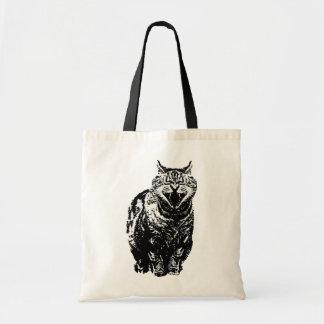 Laughing Cat Budget Tote Bag