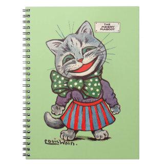 Laughing Cat, Louis Wain Spiral Notebook