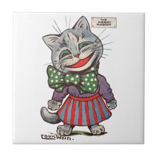 Laughing Cat, Louis Wain Tile