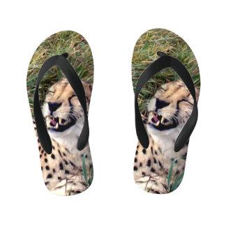 Laughing Cheetah, Kid's Flip Flops