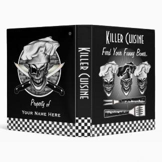 Laughing Chef Skulls 3 Ring Binders