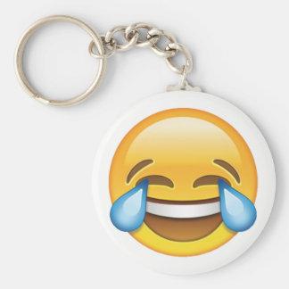 Laughing Crying Tears of Joy emoji Basic Round Button Keychain