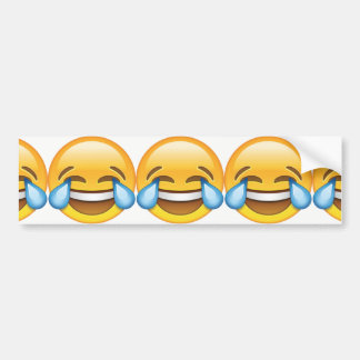 Laughing Crying Tears of Joy emoji Bumper Sticker