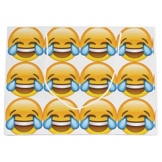 Laughing Crying Tears of Joy emoji Large Gift Bag