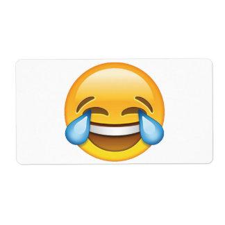 Laughing Crying Tears of Joy emoji Shipping Label