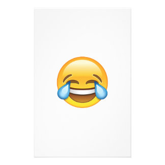 Laughing Crying Tears of Joy emoji Stationery Paper