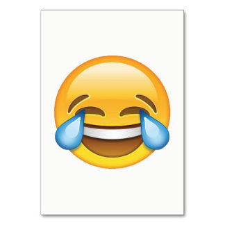 Laughing Crying Tears of Joy emoji Table Card