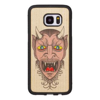 Laughing Demon Illustration Wood Samsung Galaxy S7 Edge Case