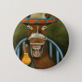 Laughing Donkey 2 Inch Round Button