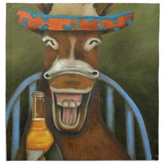 Laughing Donkey Napkin