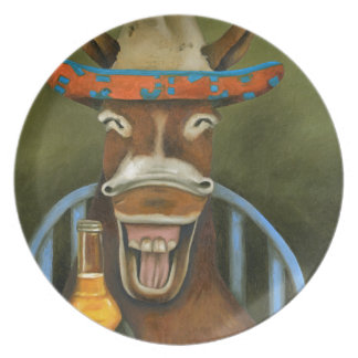 Laughing Donkey Plate