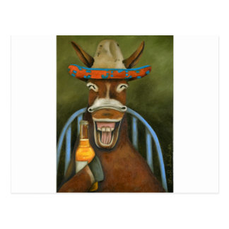 Laughing Donkey Postcard