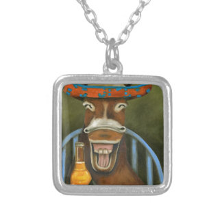 Laughing Donkey Silver Plated Necklace