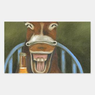 Laughing Donkey Sticker