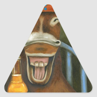 Laughing Donkey Triangle Sticker