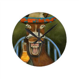 Laughing Donkey Wall Clocks