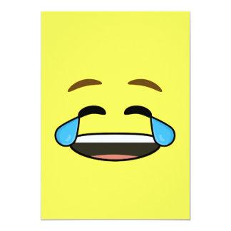 "Laughing Emoji 5"" X 7"" Invitation Card"