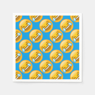Laughing Emoji (blue background) Disposable Napkins