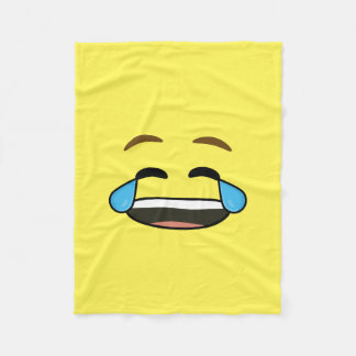 Laughing Emoji Fleece Blanket