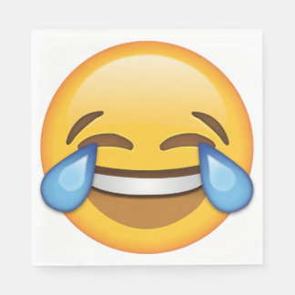 Laughing Emoji Square Napkins (50 napkins) Paper Napkins