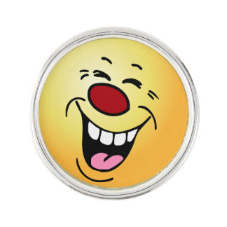 Laughing Face: My employees expect to get raises Lapel Pin
