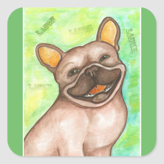 Laughing French Bulldog stickers