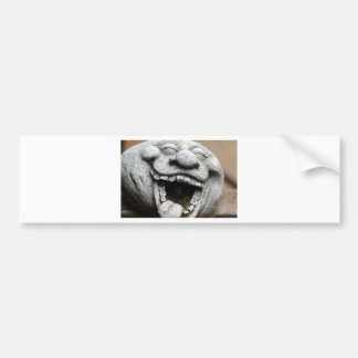 laughing garden gnome of cement bumper sticker