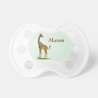 Laughing Giraffe Personalized Baby Pacifier