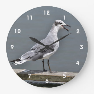 Laughing Gull Large Clock