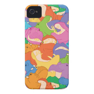 Laughing Hippos Phone Case iPhone 4 Case-Mate Case